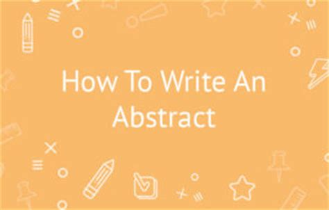 How to write an abstract in an apa paper